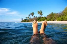 zwemmen voet